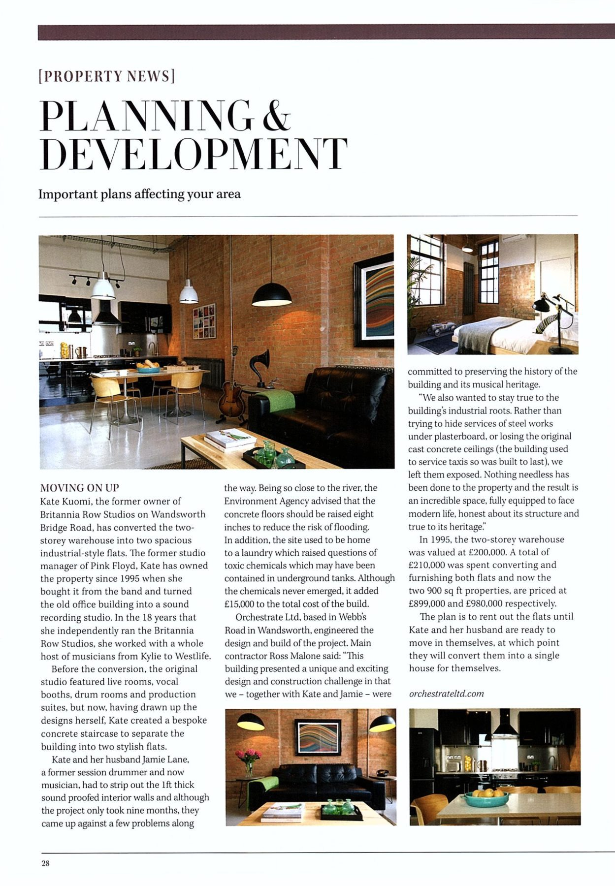 Britannia Row featured in Fulham Resident's Journal